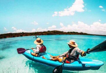 Kayak en Bacalar